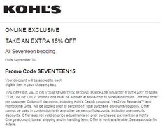Option 1: Get a Kohl's Card Kohl's offers a 30% off coupon about once every month exclusively to their card holders. If you are not a Kohl's card holder, you can get one at samp-cross.ml Kohl's may send direct mail with the coupon code inside, however not all card holders may get the same mailer, and thus some may only receive 15% or 20% off coupons.