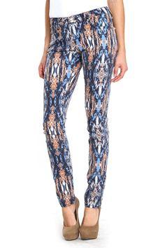 {Tribal Print Skinny Jeans} Hybrid & Co.