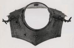 Northern German    Almain Collar, c. 1570    Steel, leather- Art Institute of Chicago