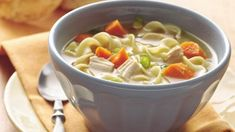 Craving a simmering, comforting bowl of hearty soup? Try this easy chicken noodle soup recipe that comes together in just 25 minutes. Brimming with chopped vegetables, cubed chicken, and egg noodles, and seasoned with fresh parsley, pepper, bay leaf and chopped garlic, this chicken noodle soup is comfort food made simple.