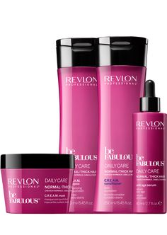 Revlon Professional be Fabulous Daily Care Normal Thick/Hair Family. Revlon Professional be Fabulous Revlon Professional, Professional Hair, Cosmetic Design, Anti Aging Serum, Pretty Makeup, Thick Hair, Hair Dos, Beauty Secrets, Beauty Makeup