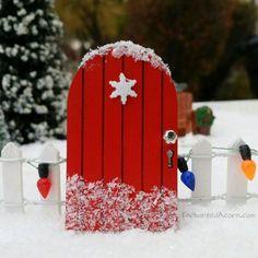 TINY Pixie Winter Fairy Garden Snowflake Door - Miniature Fairy Garden Accessory