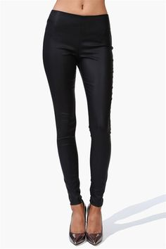 Slippery Black Leather Pants