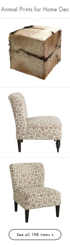 """""""Animal Prints for Home Dec"""" by at5woodavenue ❤ liked on Polyvore featuring home, furniture, stools, animal print, rustic home furniture, coloured stools, rustic furniture, rustic stools, colored stools and chairs"""