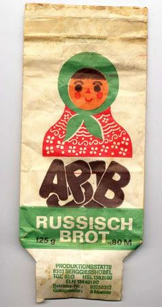russiscch brot ddr | Russisch Brot, Tüte Ddr Brd, Capital Account, East Germany, Old Ads, Vintage Advertisements, Growing Up, Retro Vintage, Childhood, Embroidery