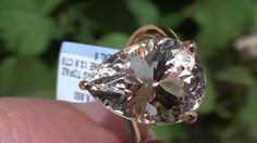 Champagne Topaz 13.80ct 18ct Gold Ring