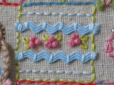 .rick rack and #embroidery