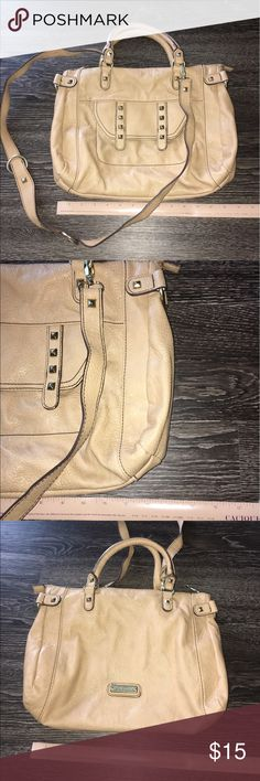 Steve Madden handbag Steve Madden handbag. Measurements shown in picture. Used. Inside stained, shown in picture. Steve Madden Bags Shoulder Bags