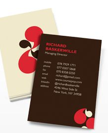 Preview image of Business Card design 'Talk To Me 2'