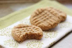 Old Fashioned 3 Ingredient Peanut Butter Cookies- 1 cup sugar, 1 cup peanut butter, 1 egg 350 degrees for 12 minutes. GF too