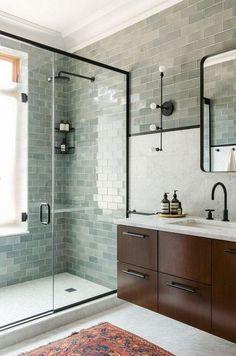 Newest Pics Ceramics Tile bathroom Concepts Erstaunliche Marmor-Badezimmer-Fliesen-Design-Ideen bathroomideas bathroomremodel …, Marble Tile Bathroom, Bathroom Tile Designs, Modern Bathroom Design, Bathroom Interior Design, Small Bathroom, Marble Tiles, Bathroom Flooring, Bathroom Ideas, Bathroom Cabinets