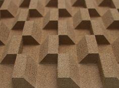 Amy Bartlett Surface Design  3D cork surface