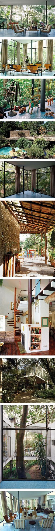 Glass House by Lina Bo Bardi on Nuji.com #glasshouse #linabobardi #brazil  ~ Great pin! For Oahu architectural design visit http://ownerbuiltdesign.com