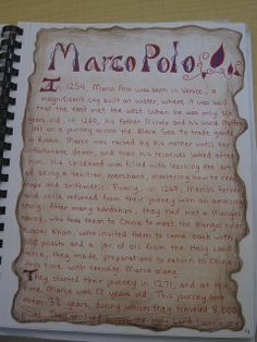 Waldorf ~ 7th grade ~ Age of Exploration and Discovery ~ Marco Polo