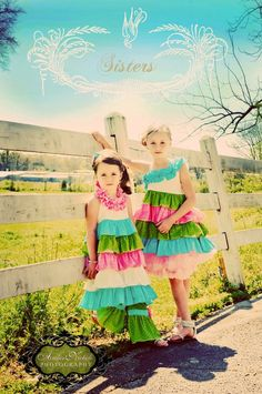 Toddler Girl Laffy Taffy Ruffle Dress and Pants by ElizabethLaine, $129.00