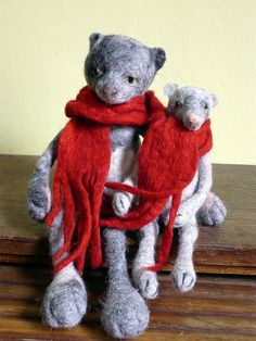 chat et rat - katze und ratte by swig - filz felt feutre, via Flickr