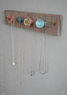 DIY Jewelry Wall Display.