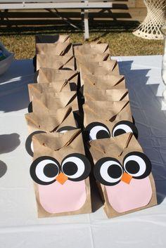 Mrs Owl girl lolly bags