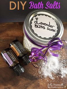 These homemade DIY Bath Salts are easy to make and are sure to please that special someone on your list. A fun gift idea using doterra essential oils.