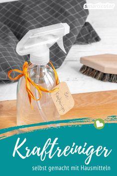 Bio-Kraftreiniger für Küche & Bad – selbstgemacht und unschlagbar günstig With the simplest home remedies you can make this cleaner for kitchen and bathroom. The powerhouse against dirt and limescale!