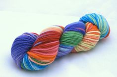 DIscobaby Knits yarn Double rainbow on far out organic merino