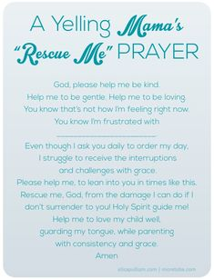 Before you yell... a mama's calming prayer