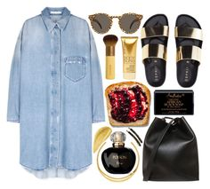 """""""Summer Sandals"""" by katerin4e-d ❤ liked on Polyvore featuring 3.1 Phillip Lim, Illesteva, Michael Kors, SheaMoisture, Christian Dior, France Luxe, fashionset, summer2015, polyvorecontest and summersandals"""