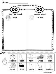 Oo Word Activities Kindergarten