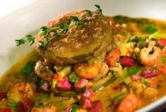 Crawfish with Fried Green Tomatoes | Louisiana Seafood Promotion & Marketing Board