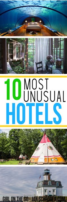 Looking for a unique place to stay? These 10 hotels will certainly be a place to remember! Click to see them all. #usa ***************************************** Travel inspiration   Travel destinations   USA travel   Atlanta   Florida   Connecticut   Rhode Island   Idaho   Georgia   Arizona