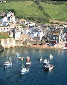 Port Isaac in Cornwall, UK location for the tv series Doc Martin