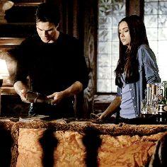 Damon Slaps Katherine's Hand