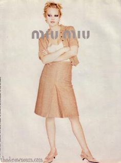 miu miu and prada Vogue Fashion, Fashion Shoot, 90s Fashion, Vintage Fashion, Witch Fashion, Retro Fashion, Miu Miu, Fashion Advertising, Drew Barrymore