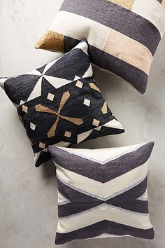 Langdon Glass Pillow - Australian sisters and design partners Phoebe and Delia Langdon offer a collection of textiles woven by artisans in the Indian community of Rajasthan. Each of their creations - handmade using traditional techniques and the finest cottons and metallic threads - helps preserve centuries-old legacies of skill and craft. (aff link)