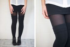 6 Ways To Wear Knee Socks Without Looking Like A Schoolgirl - xoJane: 1. With sheer tights underneath