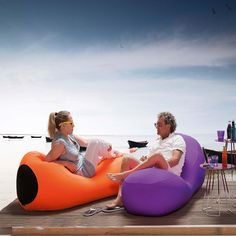 i-Bone expandable pouf for outdoor & indoor   Expandable pouf I-Bone has modern design with  futurist infusion. It provides maximum comfort in 3 positions. It has a removable, washable outer cover. It can be used outdoors and indoors, such living rooms, lounge areas, gardens and terraces.
