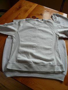 New Dress A Day - DIY - oversized sweatshirt -taking in sweatshirt