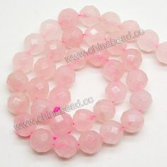 Gemstone Beads, Rose Quartz, Faceted round, Approx 12mm, Hole: Approx 1.5mm, 33 pcs per strand, Sold by Strands