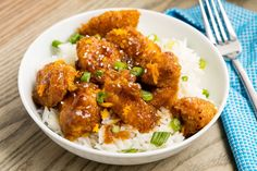 Skinny Orange Chicken (Substitute with Quinoa or Brown Rice and Whole Wheat Panko)