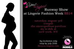 Sexy Lingerie Maternity Runway Show!  http://thestorkmagazine.com/2013/07/23/you-lingerie-invites-all-moms-maternity-lingerie-runway-show-with-expecting-models/