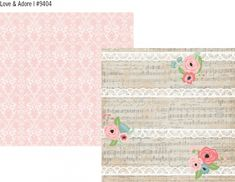 Romance double sided 12x12 cardstock - Love & Adore