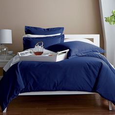 Classic Percale Solid Duvet Cover / Comforter Cover | The Company Store sham to match lilly bedding