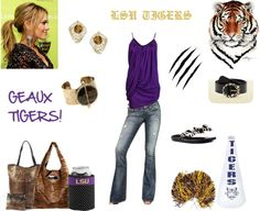 """""""GAME DAY!"""" by stephanie-pettitt-michelli on Polyvore"""