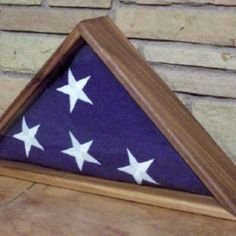 Display Case For A Military Honors Flag