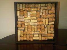 Wine cork decoration. Use as a tack board