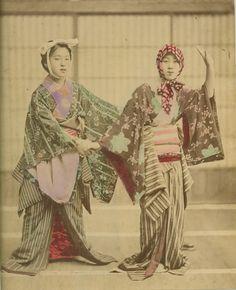 Geisha comical dancers, ca. 1880