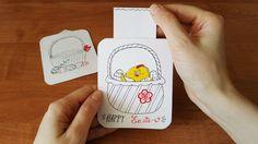 Slider Surprise сard DIY. Cute Easter card.