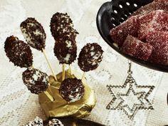 Dadelklubbor med choklad