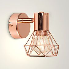 Lidia Wall Spotlight ZipCode Design Finish: Copper, Bulb Included: Yes Copper Wall Light, Gold Wall Lights, Industrial Wall Lights, Copper Lighting, Wall Sconce Lighting, Modern Lighting, Industrial Style, Lighting Ideas, Lounge Lighting