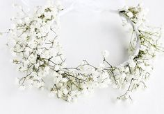 Baby's Breath Crown Rustic Halo Natural Bridal by HandyCraftTS